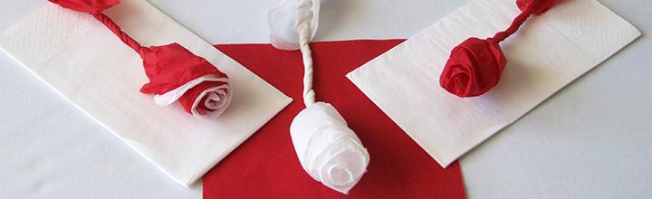 Как да си направим роза от хартиена салфетка