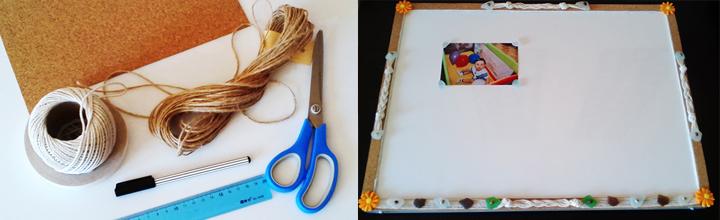 Как да превърнем обикновена магнитна дъска в декорирано табло за снимки
