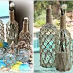 Бутилки с морска декорация