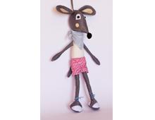 Мишок с шалче, шорти и маратонки, парцалена кукла, мека играчка