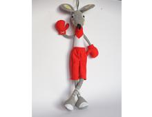 Мишок- Боксьор , мека текстилна играчка,