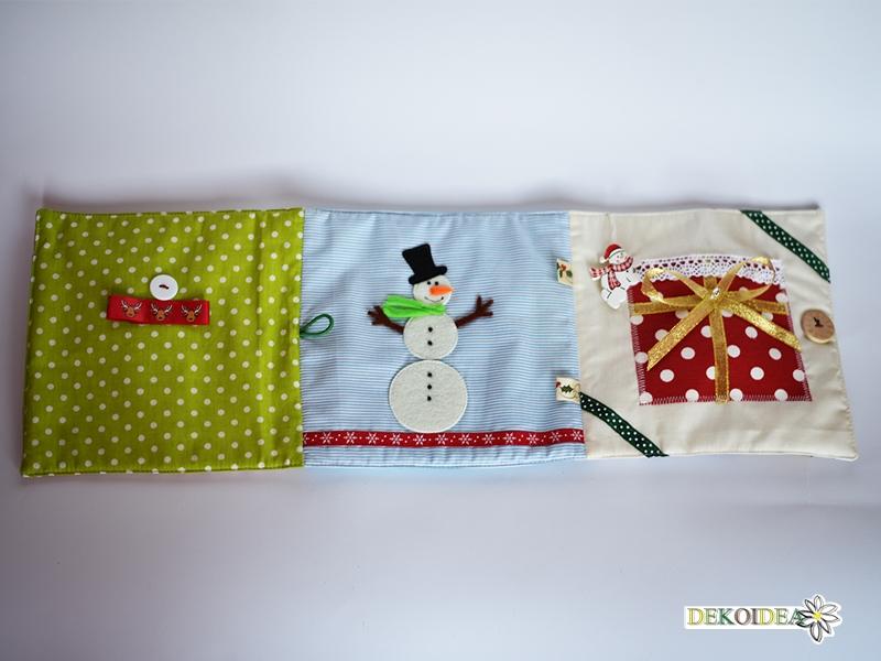 Коледна тиха книжка от текстил