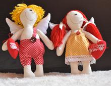 Двойка шити кукли Купидончета